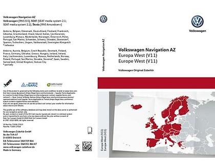 SD-Karte für Radio-Navigationssystem AZ Europa West, (V11)